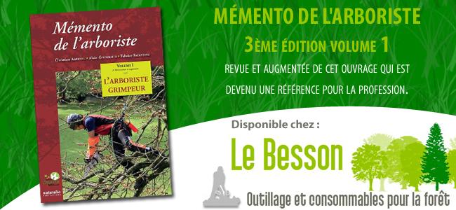 La troisième édition du Mémento de l'arboriste disponible chez Besson !