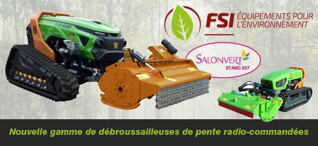 Une nouvelle gamme de débroussailleuses de pente radio-commandées chez FSI Franskan !