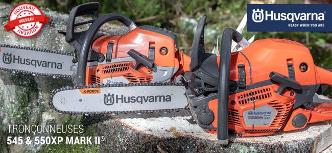 Nouvelle génération de tronçonneuses Husqvarna : 545 & 550 XP Mark II
