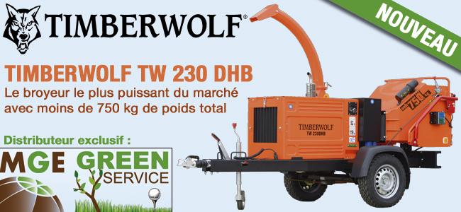 Le nouveau TIMBERWOLF  TW 230 DHB