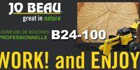 Rogneuse de souches professionnelle B24-100 chez Jo Beau